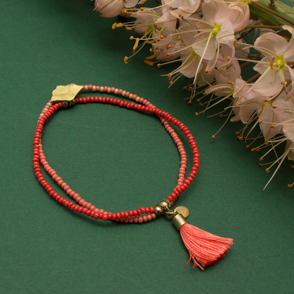 Ocean Collection Coral Beaded Bracelet