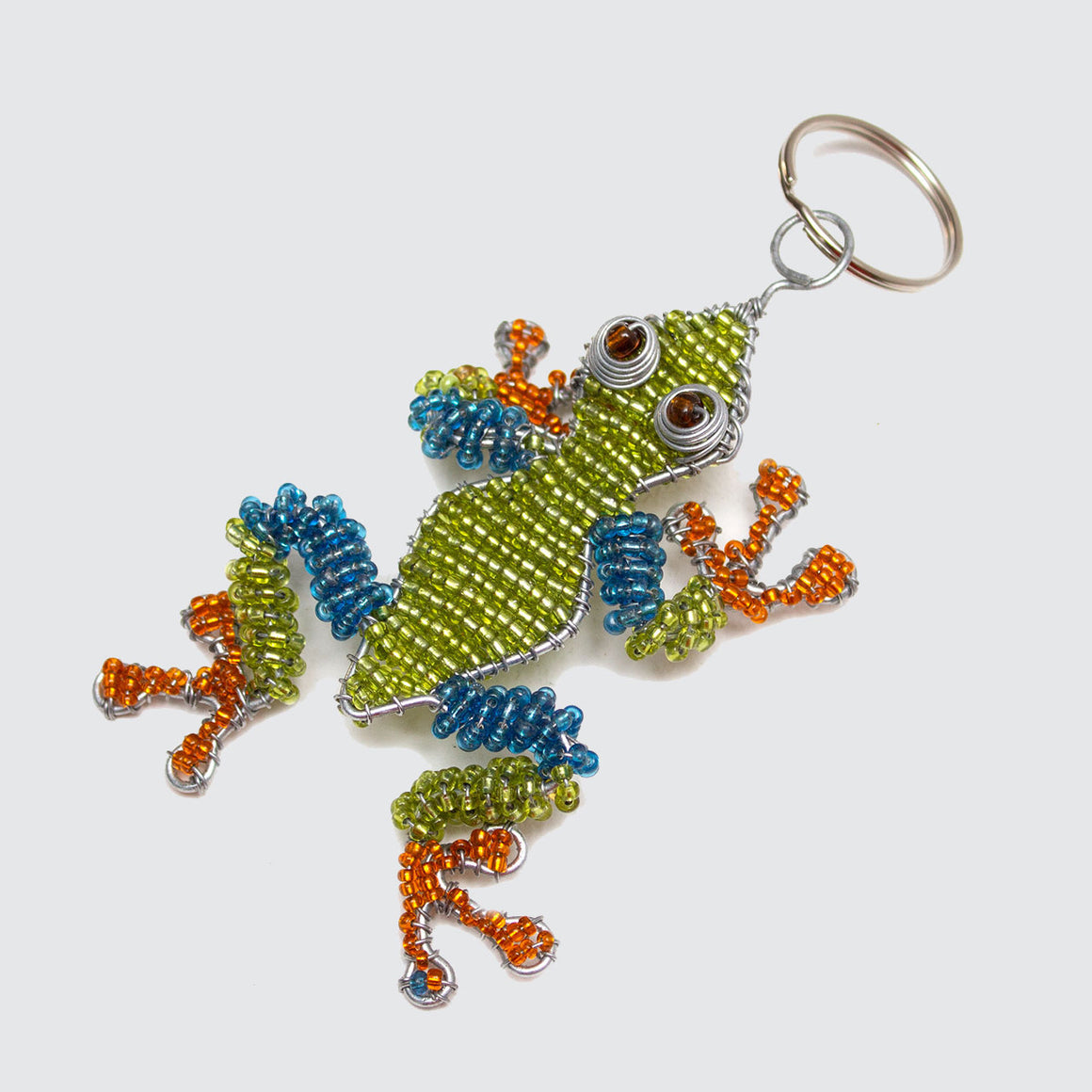 Zimbabwean Beaded Frog Keyring/Decoration