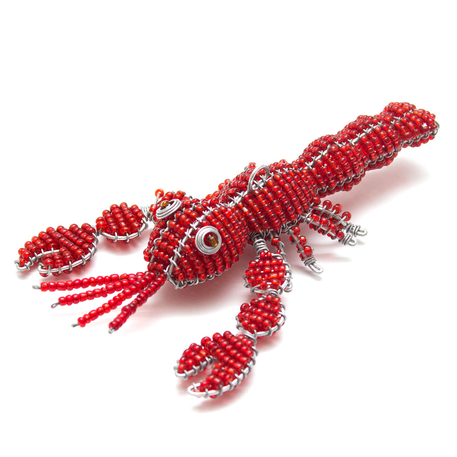 Zimbabwean Beaded Lobster Decoration