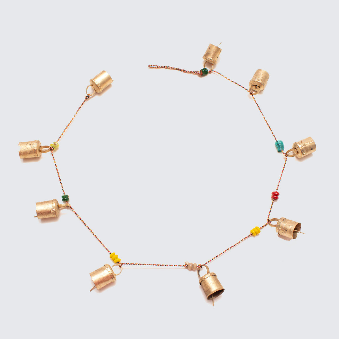 Indian Brass Bell String With Ceramic Beads