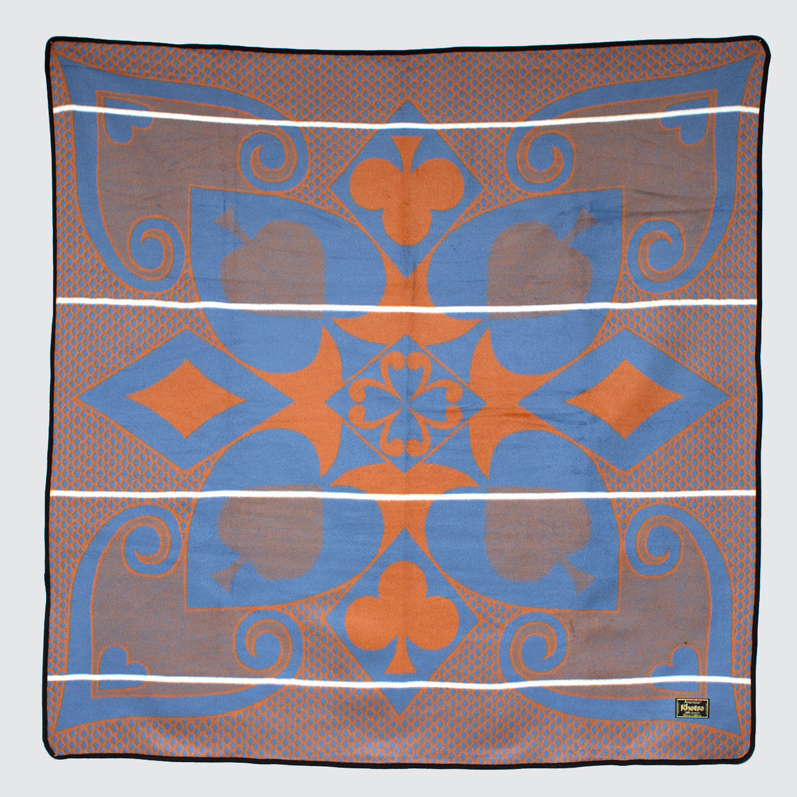 Khotso Tradtional Basotho Blanket 'Blue & Orange Cards'