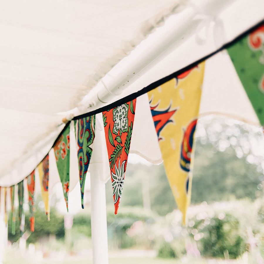 African Wax Cotton 5 Meter Long Fabric Bunting 'Primary Print'