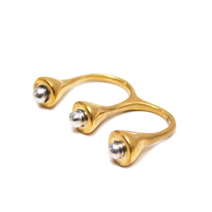 Pearl Open Double Ring by ethical, sustainable brand Artisans & Adventurers