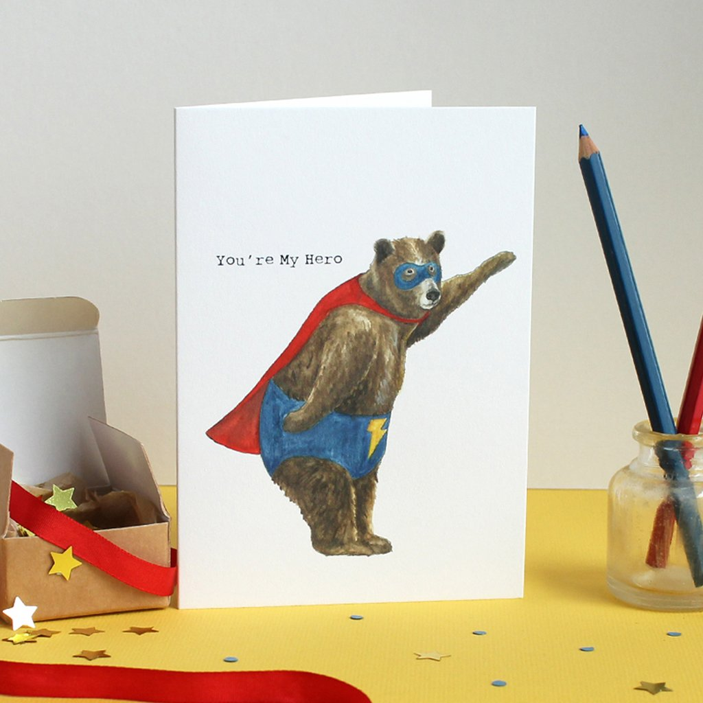Mister Peebles Greeting Card 'You're My Hero'