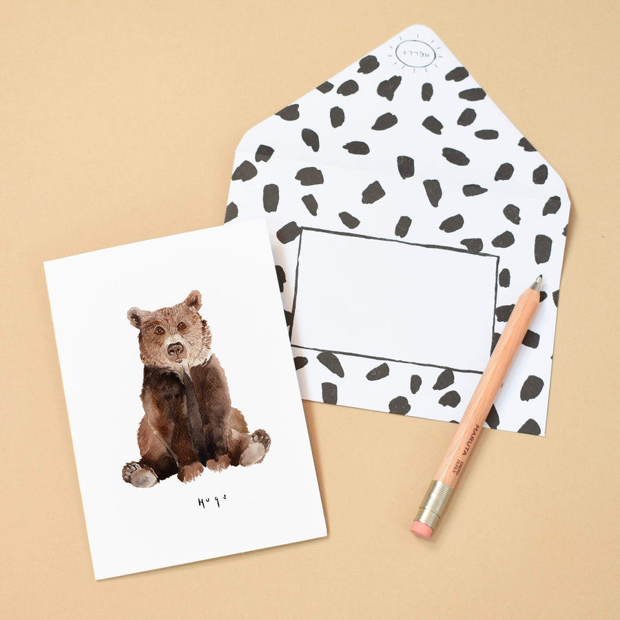 LIZ TEMPERLEY Bear Hugs Notecard