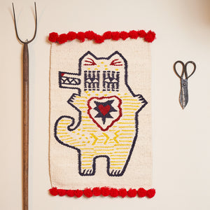 Woven Kenyan Wall Hanging/Rug 'Red Dog'