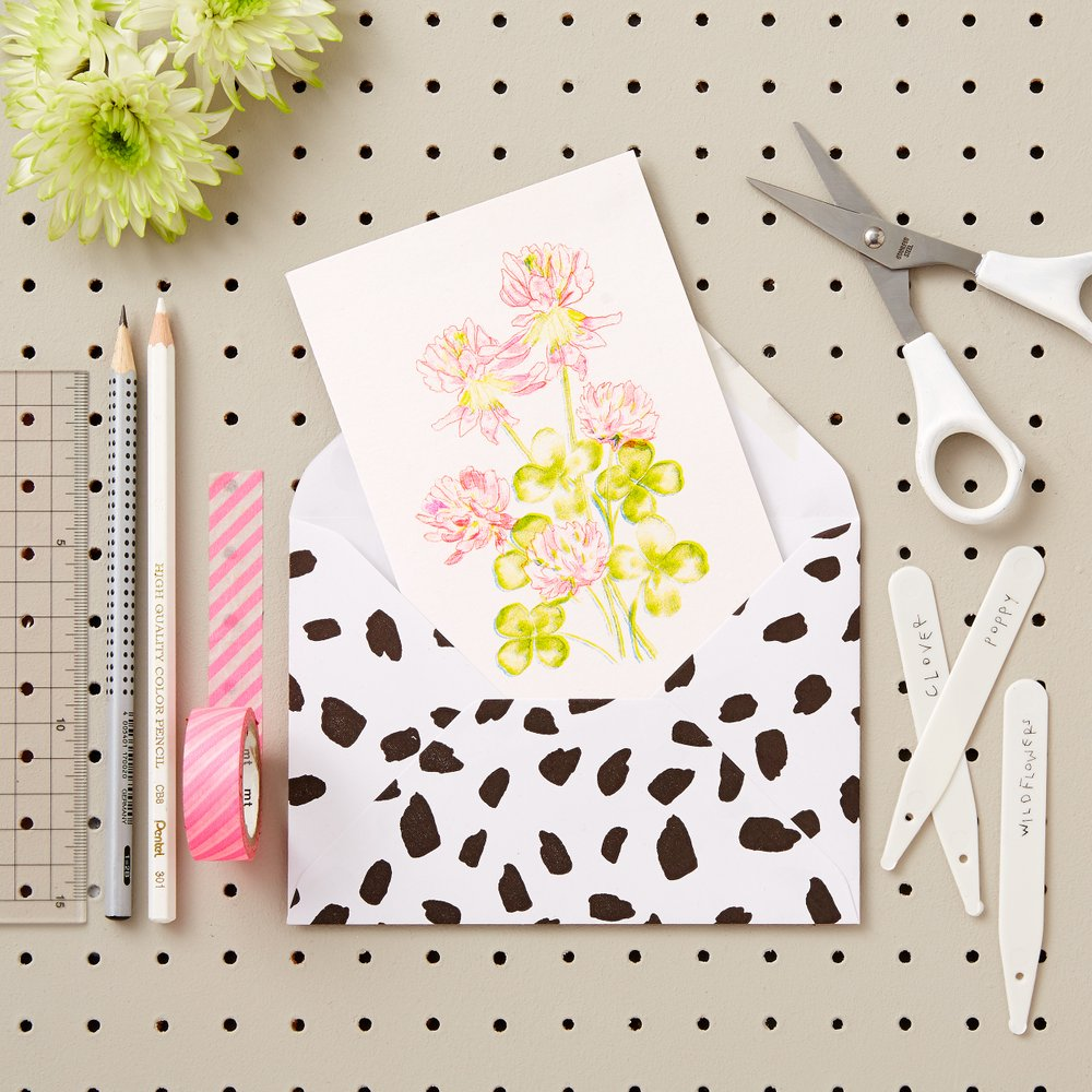 LIZ TEMPERLEY Clover Wildflower Greetings Card