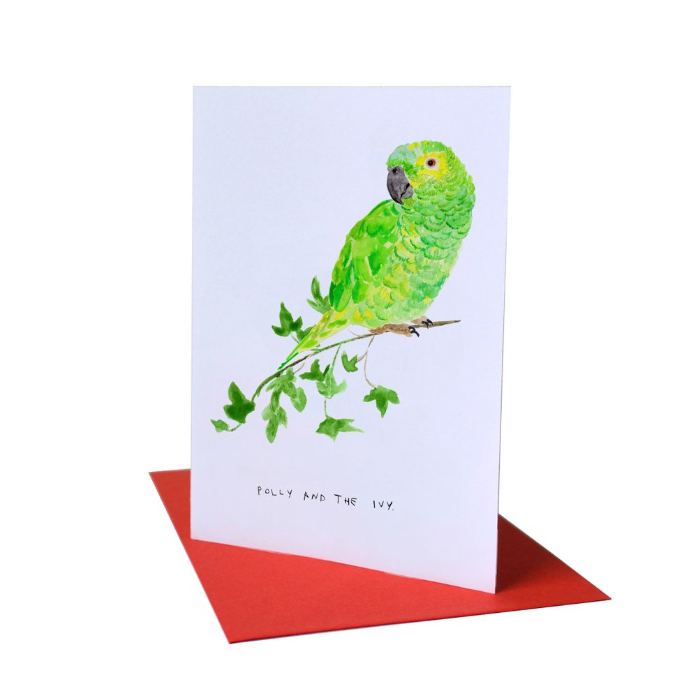 LIZ TEMPERLEY Polly And The Ivy Christmas Greeting Card