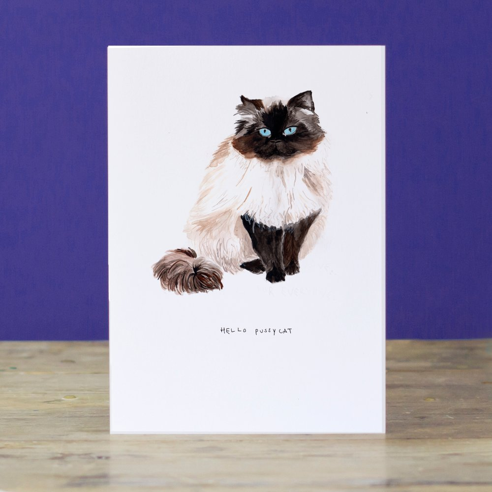 LIZ TEMPERLEY Hello Pussycat Greeting Card