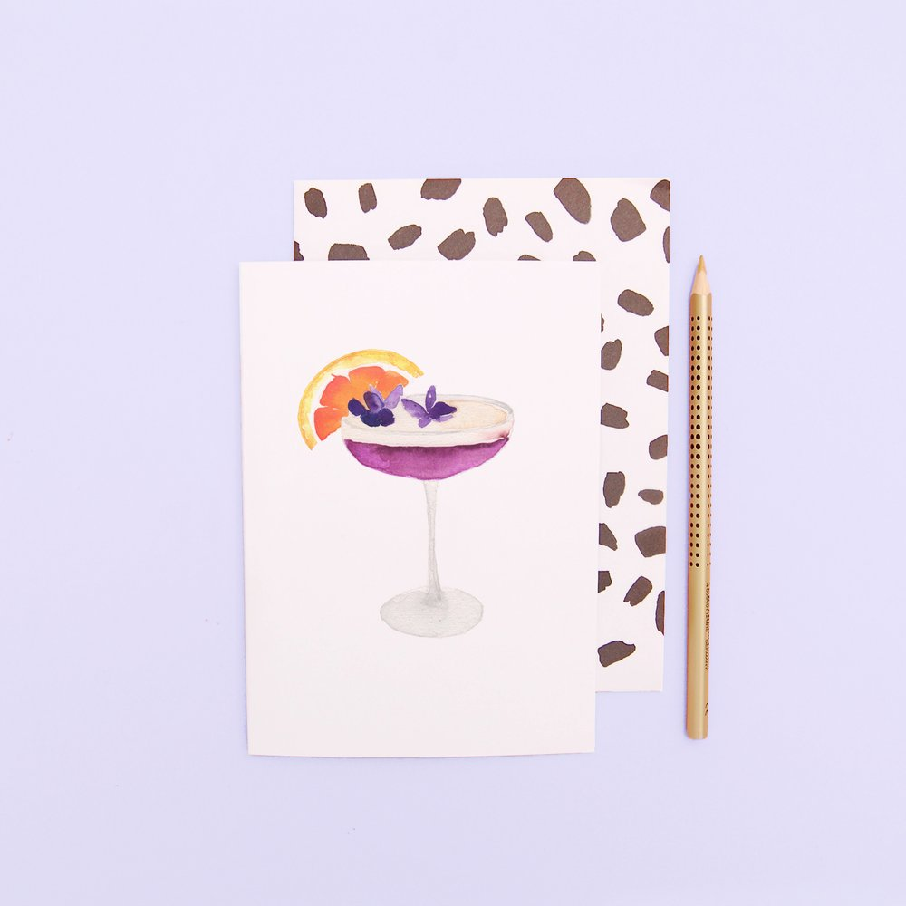 LIZ TEMPERLEY Cocktail Greeting Card