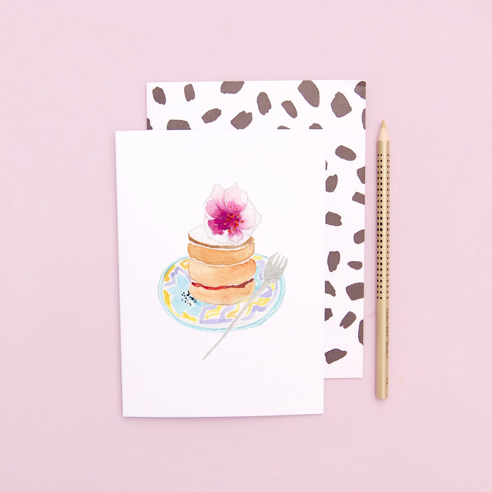 LIZ TEMPERLEY Birthday Stack Cake Greeting Card