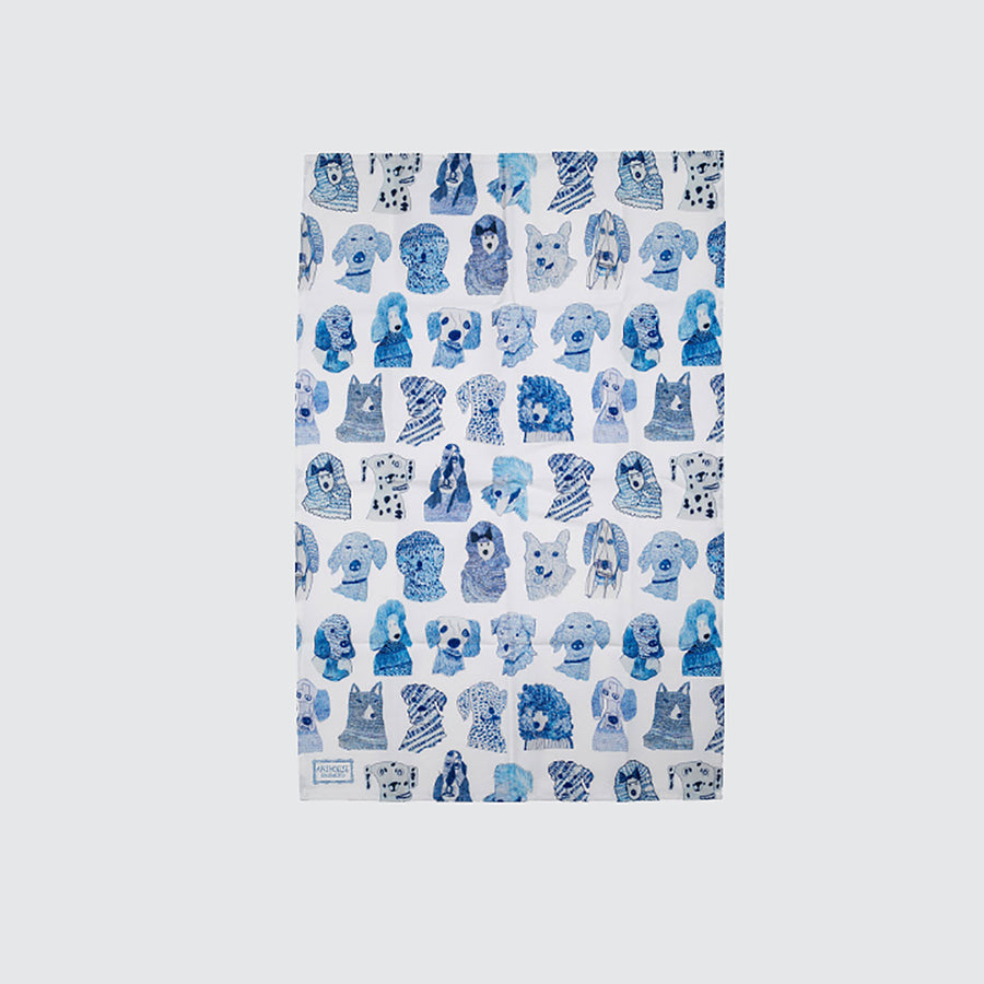 ARTHOUSE Unlimited Cotton Tea Towel 'Blue Dogs'