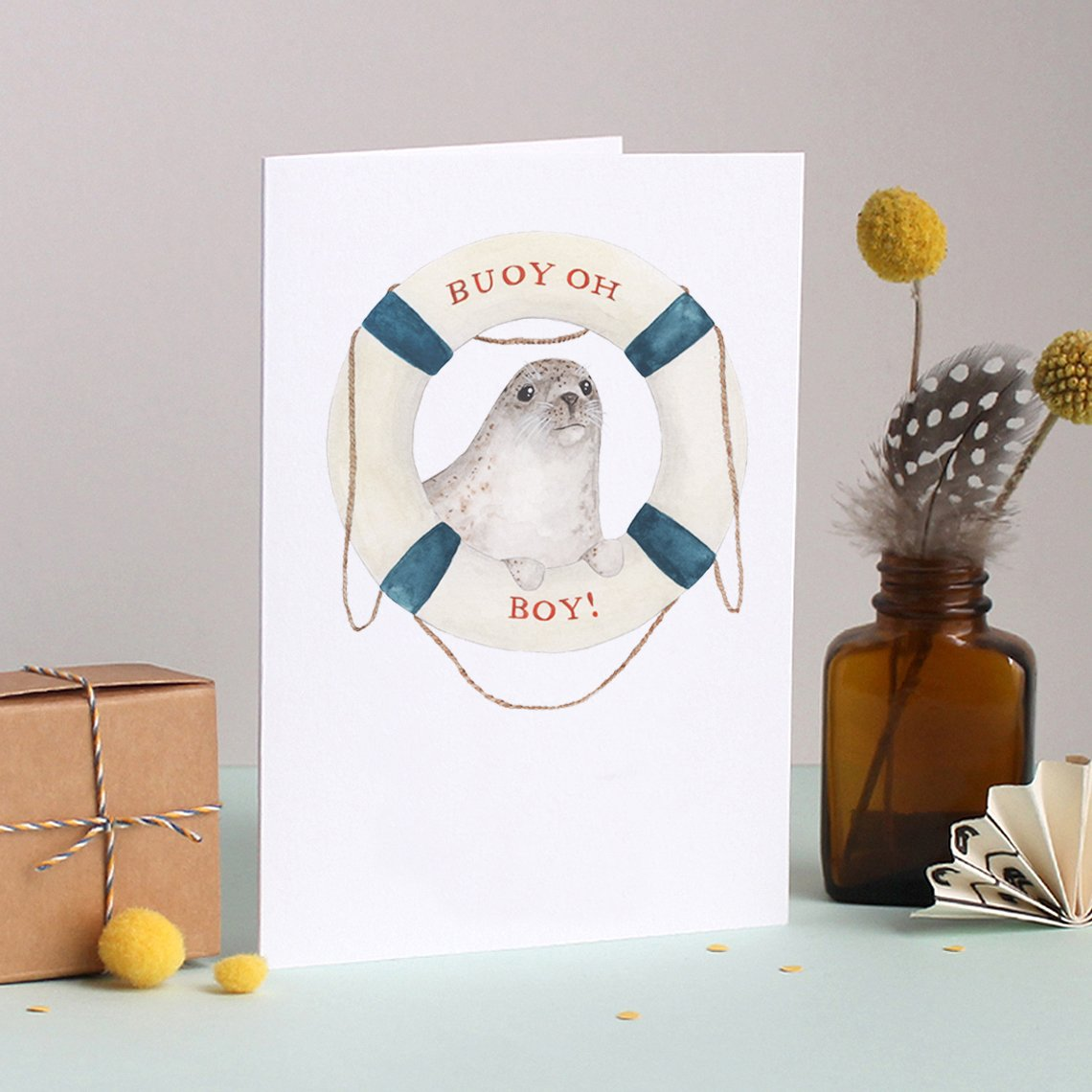 Mister Peebles Greeting Card 'Buoy oh Boy!'