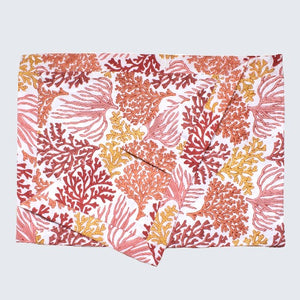 Indian Block Printed Pillow Case 'Coral Reef'