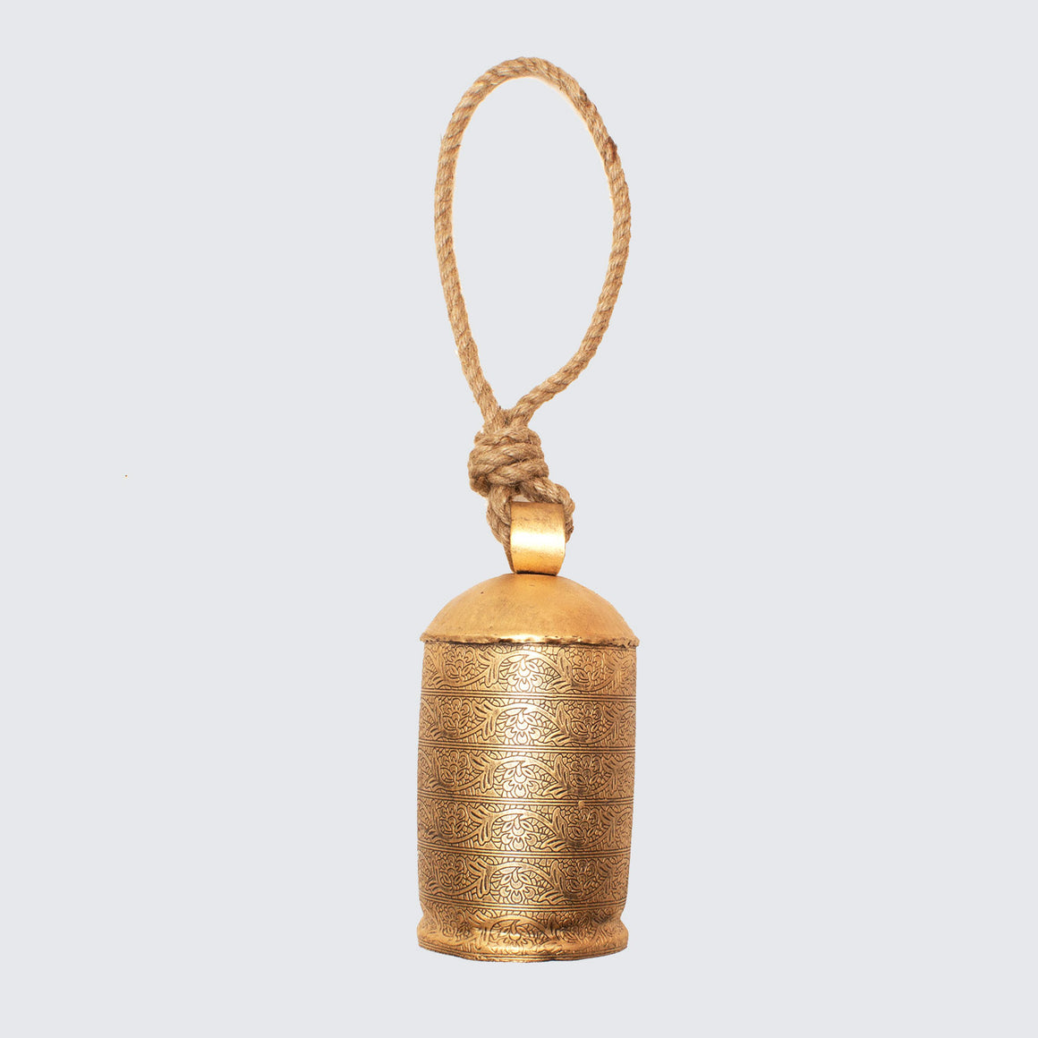 Indian Brass Cow Bell With Jute String