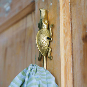 Ghanaian Ashanti Brass Hook 'Crocodile'