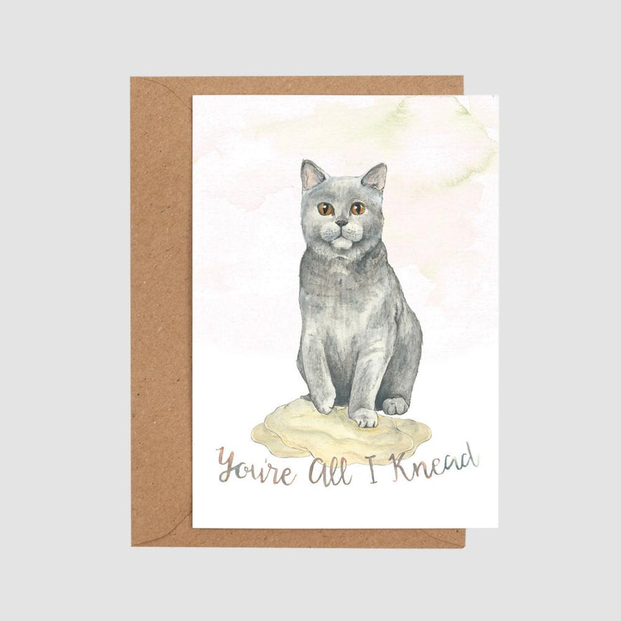 Mister Peebles Greeting Card 'You're All I Knead'