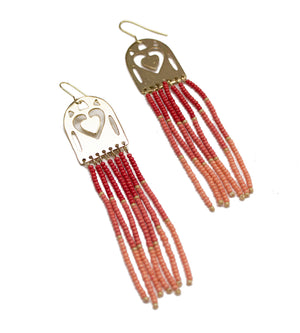 Ocean Collection Coral Beaded Earrings