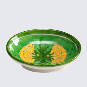 Jaipur Hand Painted Indian Soap Dish 'Dandelion'