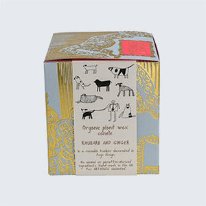 ARTHOUSE Unlimited Organic Plant Wax Candle 'Dogs Rhubarb & Ginger'
