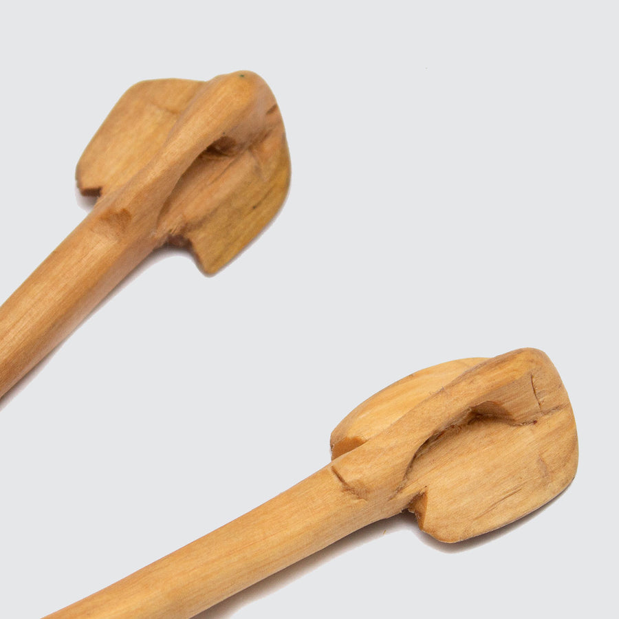 Olive Wood Elephant Chopsticks
