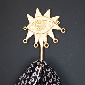 Ghanaian Ashanti Brass Hook 'Abstract Eye'
