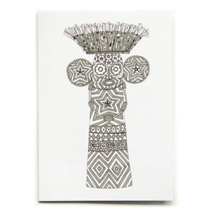 Elephant Mask Greetings Card