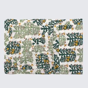 Indian Block Printed Pillow Case 'Monkey Puzzle'