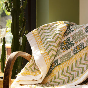 Indian Kantha Single Sized Quilt 'Fantasy Forest'