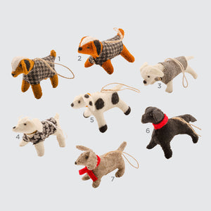 Indian Felt Dog Hanging Decoration '5 - Dotty'