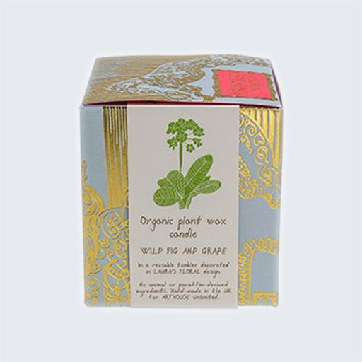 ARTHOUSE Unlimited Organic Plant Wax Candle 'Laura's Floral Wild Fig & Grape'