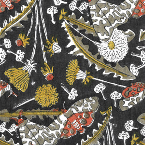 Indian Block Printed Pillow Case 'Garden Tiger Moth'