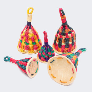 Ghanaian Hand Woven musical  Rattle 'Mixed Colours'