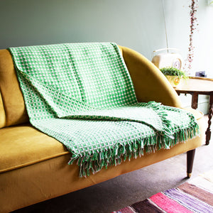 Tanzanian Hand Woven Throw 'Grass Green'