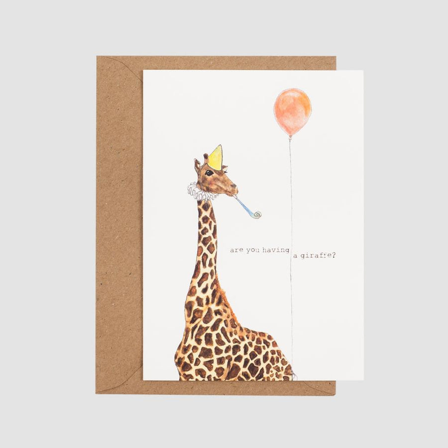 Mister Peebles Greeting Card 'Having A Giraffe'