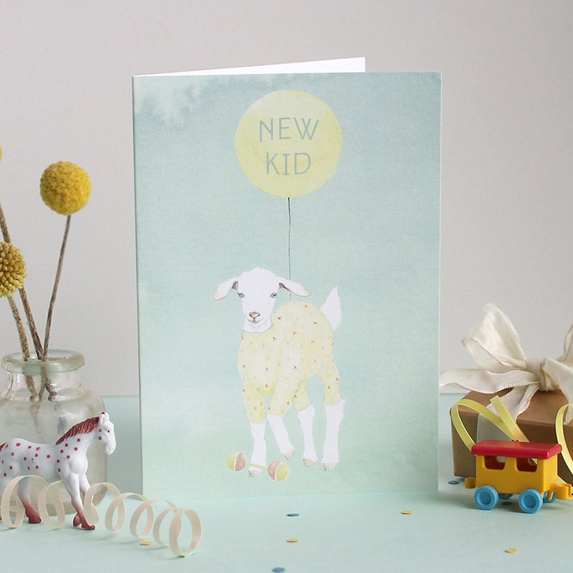 Mister Peebles Greeting Card 'New Kid'