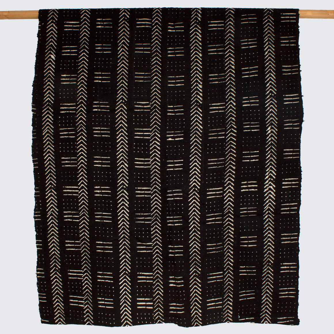 West African Bògòlanfini Mud Cloth 'Black Herringbone'