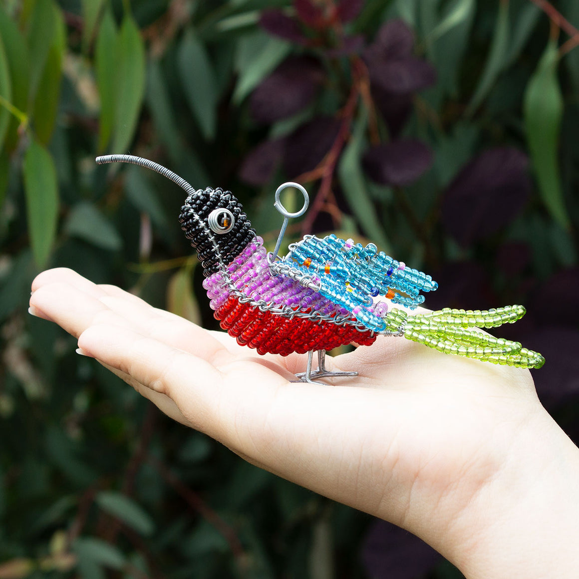 Zimbabwean Beaded Humming Bird Decoration