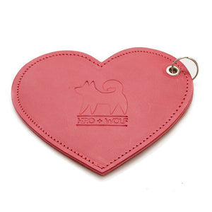 Poo Pouch Heart 'Red Leather'