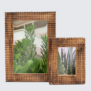 Mango Wood Indian Monkey Puzzle Picture Frames