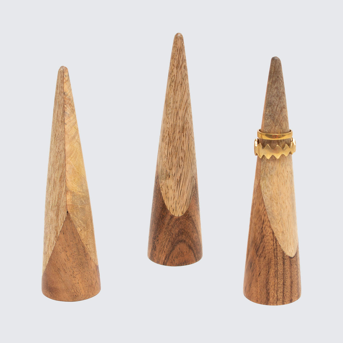Mango Wood Indian Ring Cones
