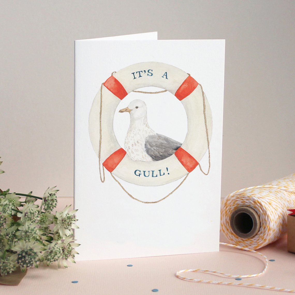Mister Peebles Greeting Card 'It's A Gull!'