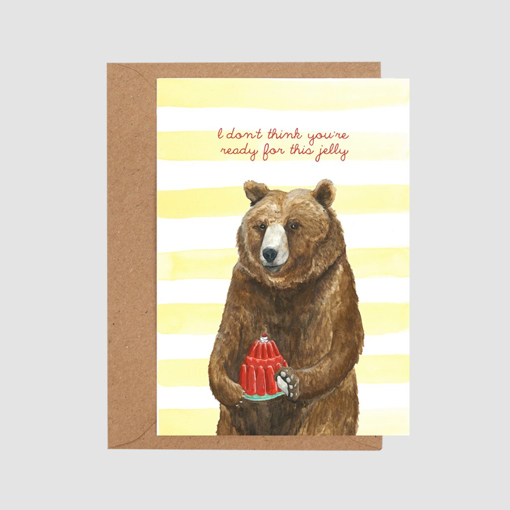 Mister Peebles Greeting Card 'Ready for this Jelly'