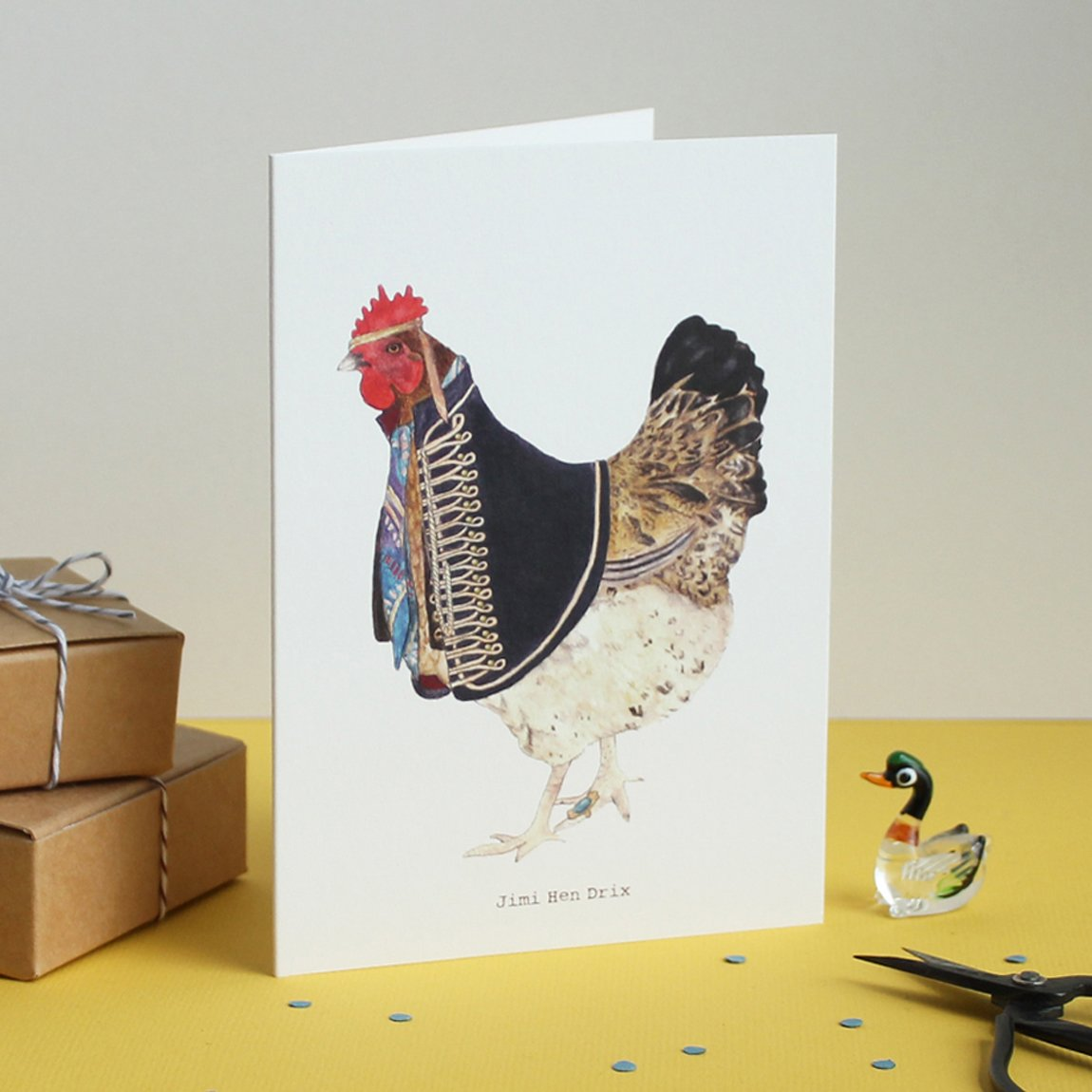 Mister Peebles Greeting Card 'Jimi Hen Drix'