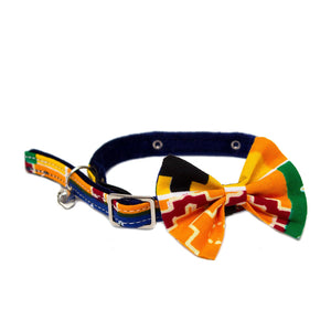 Kente Cat Bow Tie