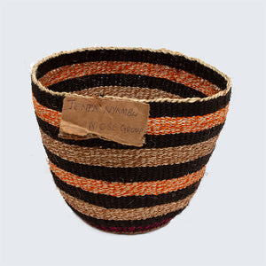 Kenyan Traditional Sisal Basket 'Jenta Orange'