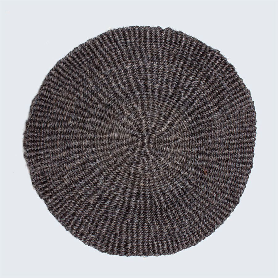 Handwoven Sisal Circle Table mat/Placemat 'Charcoal'