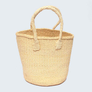 Kenyan Sisal Round Basket/Bag with Handles 'Natural' No.55