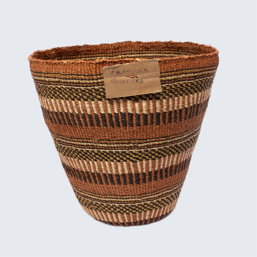 Kenyan Traditional Sisal Basket 'Francesca Honey Hive'