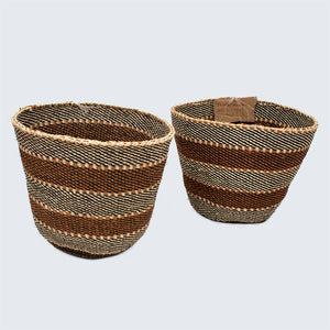 Kenyan Traditional Sisal Baskets 'Jenta Matching Three'